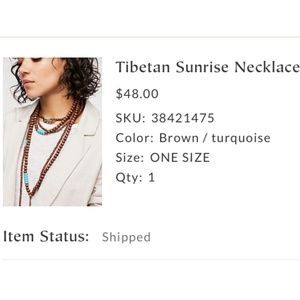 Free People Tibetan Sunrise Necklace